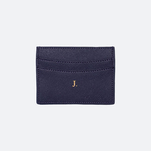 Blake Saffiano Card Holder in Midnight Navy - Kastemize