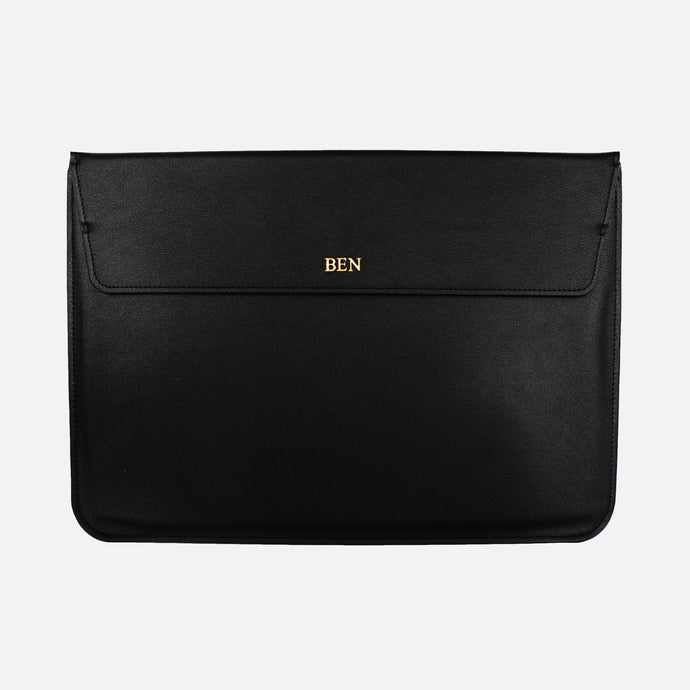Hayden Laptop Sleeve in Black - Kastemize