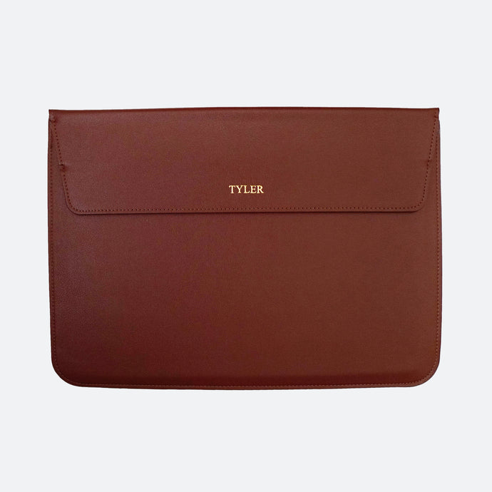 Hayden Laptop Sleeve in Brown - Kastemize