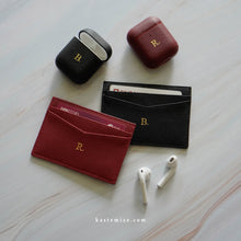 Load image into Gallery viewer, Elijah Saffiano Cardholder in Burgundy - Kastemize