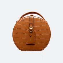 Load image into Gallery viewer, Olivia Round Shoulder Bag in Brown - Kastemize