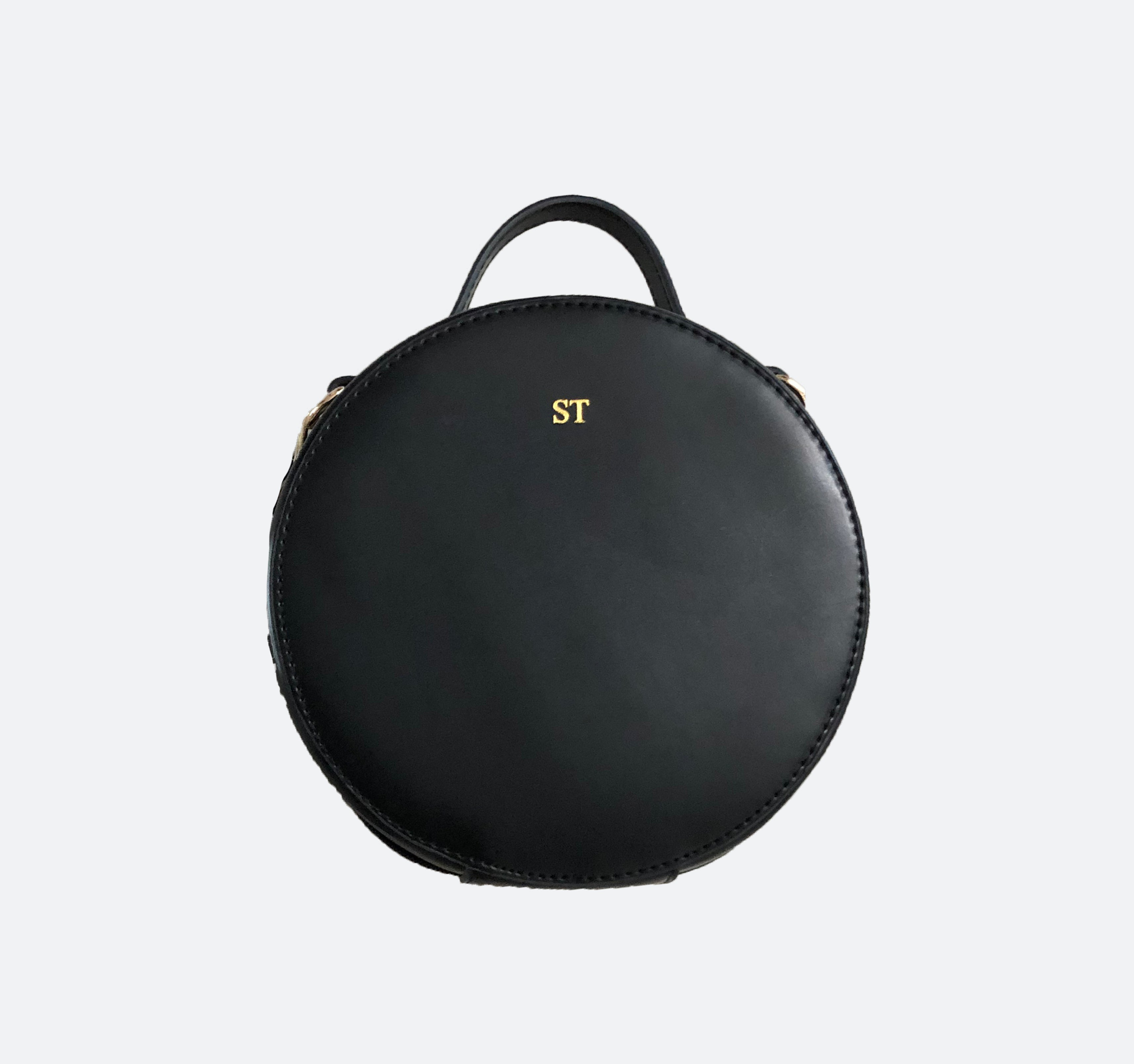Ophelia Round Shoulder Bag in Black - Kastemize