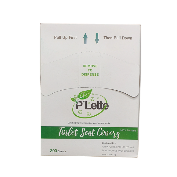 P'lette Toilet Seat Cover (Refill Pack) - 200 Sheets