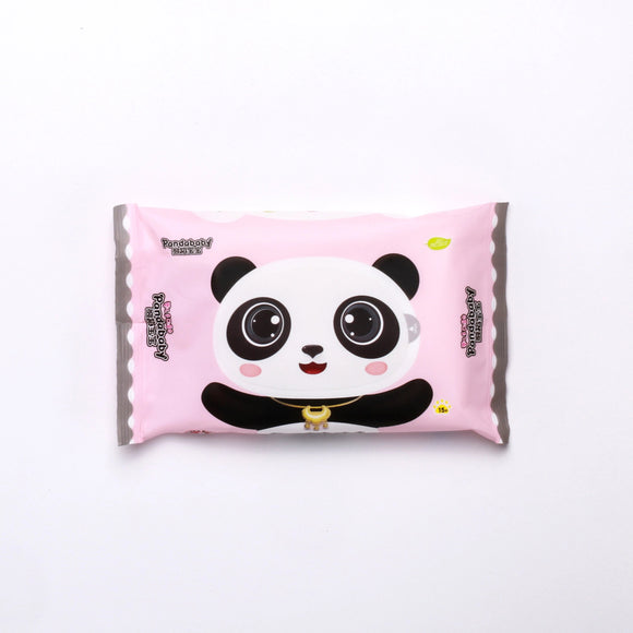 Panda Baby Lush Pink Mini Baby Wipes