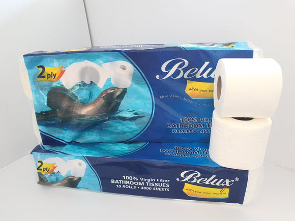 Belux Toilet Rolls - 4000 sheets (2 Ply)
