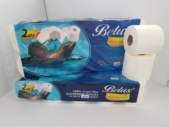 Belux Toilet Rolls - 5000 sheets (2 Ply)