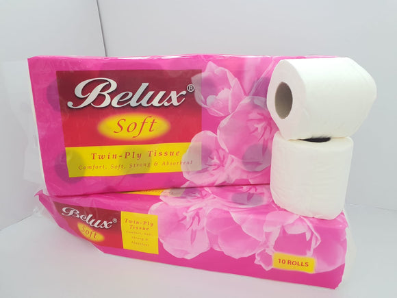Belux Toilet Rolls - 2000 sheets (2 Ply)