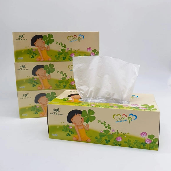 Clover Facial Tissue Box