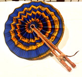 Blue/Orange Ankara Fashion Fan