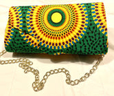 Circle Disco Design 'Karen' Clutch with chain strap