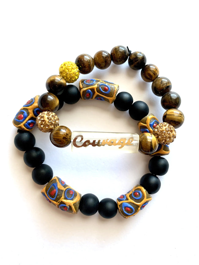 Courage - 'Affirm Her' Stackable Beads (2)
