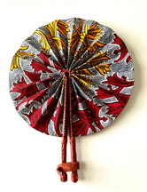 Red & Yellow Floral Ankara Fan