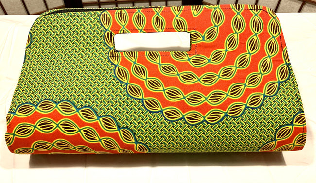 Green & Red Sunflower 'Anetra' clutch