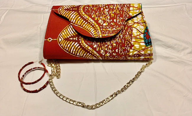 Major Red & Beige Branch Sephlyn clutch