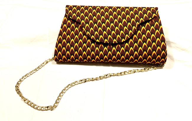 Maroon & Golden Leaves Sephlyn clutch