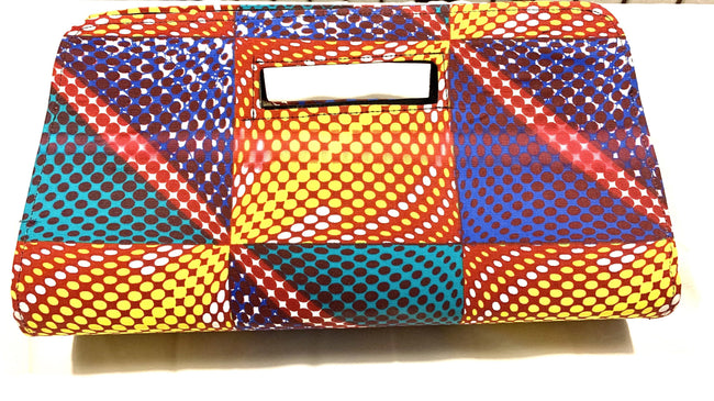 Purple, Yellow, Turquoise 'Anetra' clutch