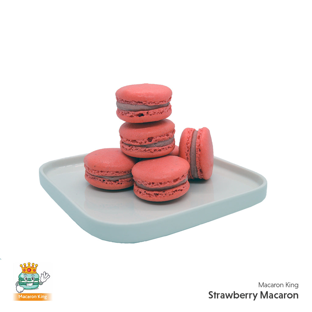 Cafe Macaron Strawberry ( 12 or 24 Pcs )