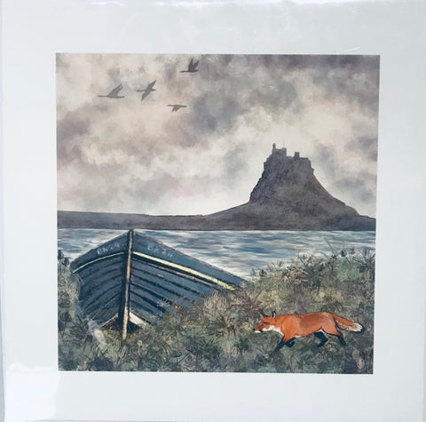 Mounted Print - Fox
