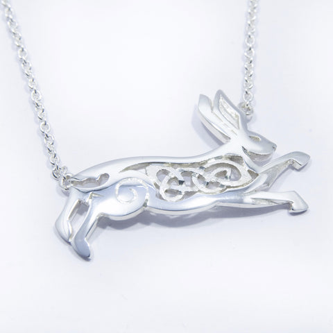 Celtic Leaping Hare necklet