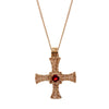 9ct gold St. Cuthbert pectoral cross with garnet