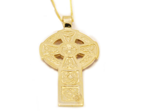 Gold Celtic Sun Cross