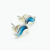 Sheila Fleet River Ripples Earrings- Dark Blue