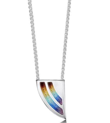 Sheila Fleet - Rainbow Pendant Necklace