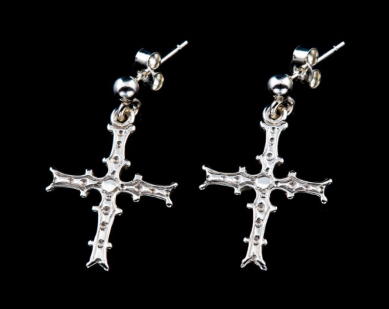 Cross of Cong silver earrings