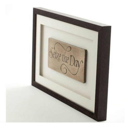 Resin Wall hanging - Seize The Day