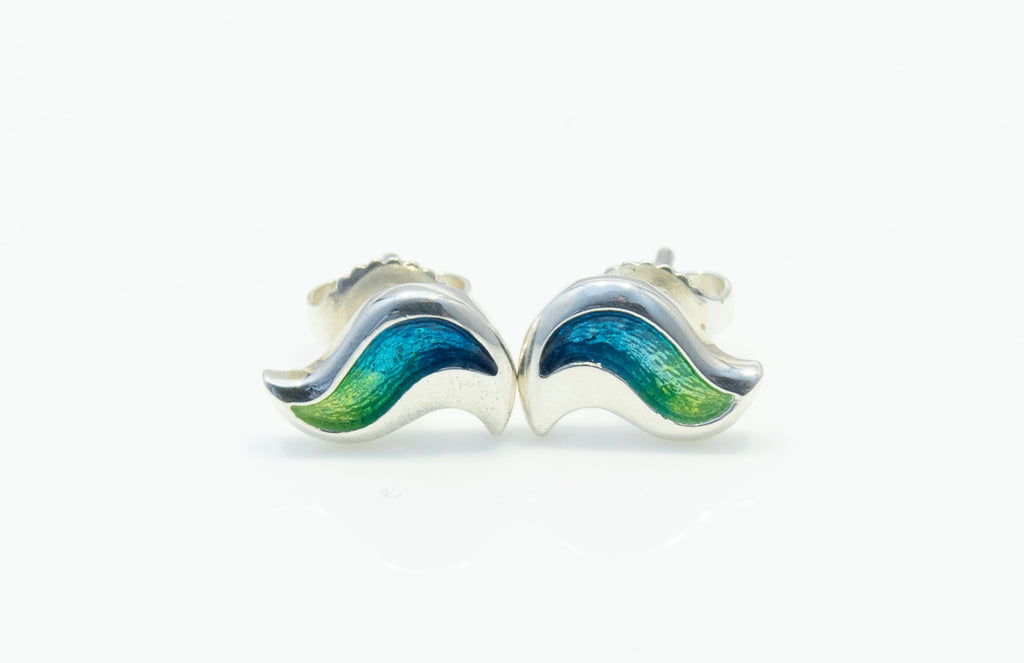 Sheila Fleet River Ripples Earrings- Blue/Green