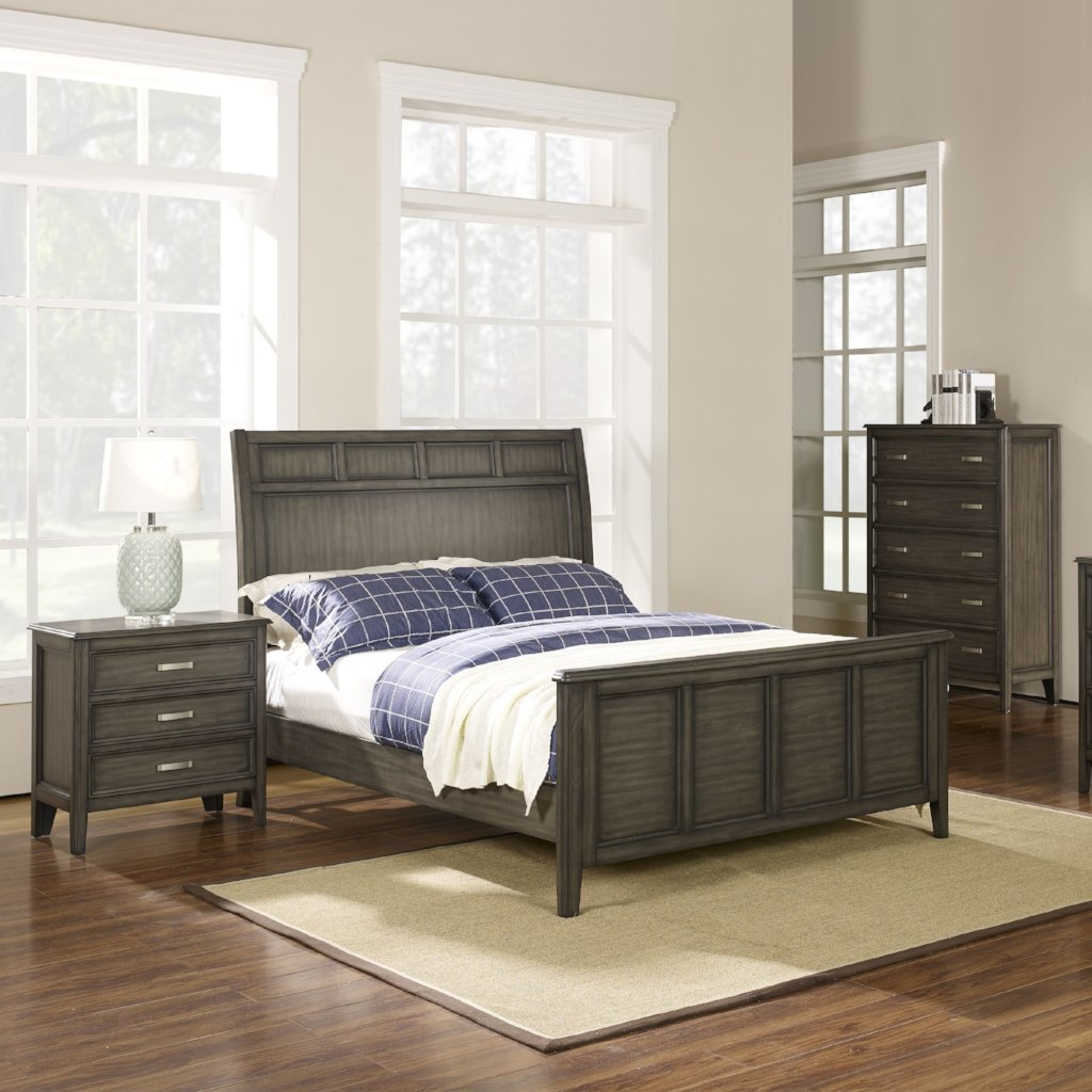 Richfield Smoke Bedroom Set, Bedroom Set, New Classic Furniture - Adams Furniture