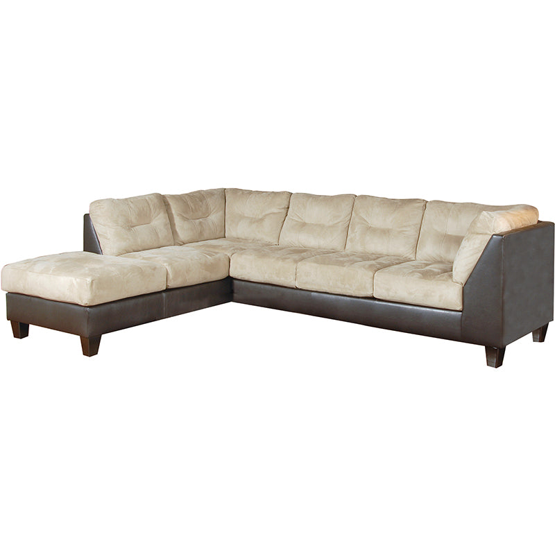 Padded Saddle Sectional, Sectional, Hughes Furniture - Adams Furniture