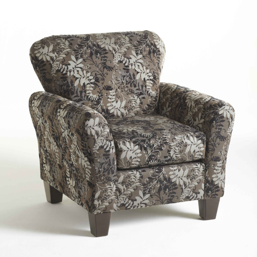 Candella Pewter Accent Chair, Accent Chair, Hughes Furniture - Adams Furniture