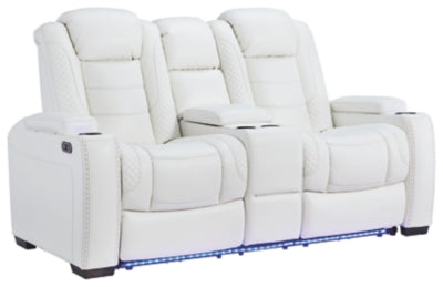 Party Time Power Reclining Loveseat with Console, Loveseat, Ashley Furniture - Adams Furniture
