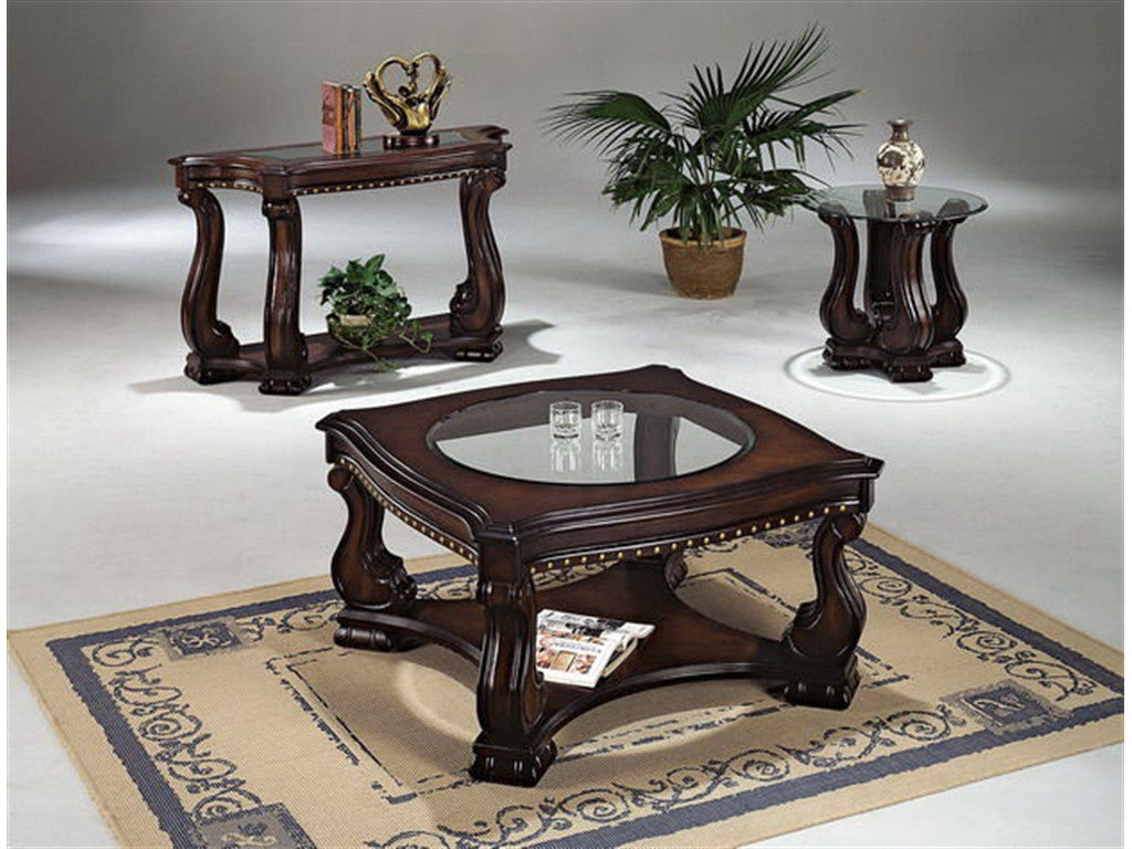 ... Lucia Nailhead End Table, Occasional Tables, Crown Mark   Adams  Furniture