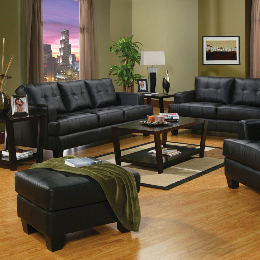 Samuel Black Living Room Set Adams Furniture