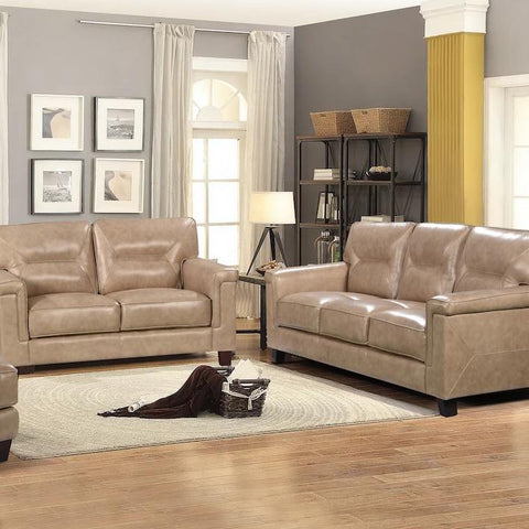 Demoine Living Room Set, Living Room Set, Leather Italia - Adams Furniture