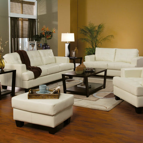 Samuel - Cream Living Room Set, Living Room Set, Coaster Furniture - Adams Furniture