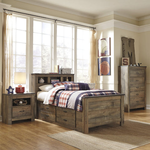 Trinell Bookcase Bedroom Set, Kids Bedroom, Ashley Furniture - Adams Furniture