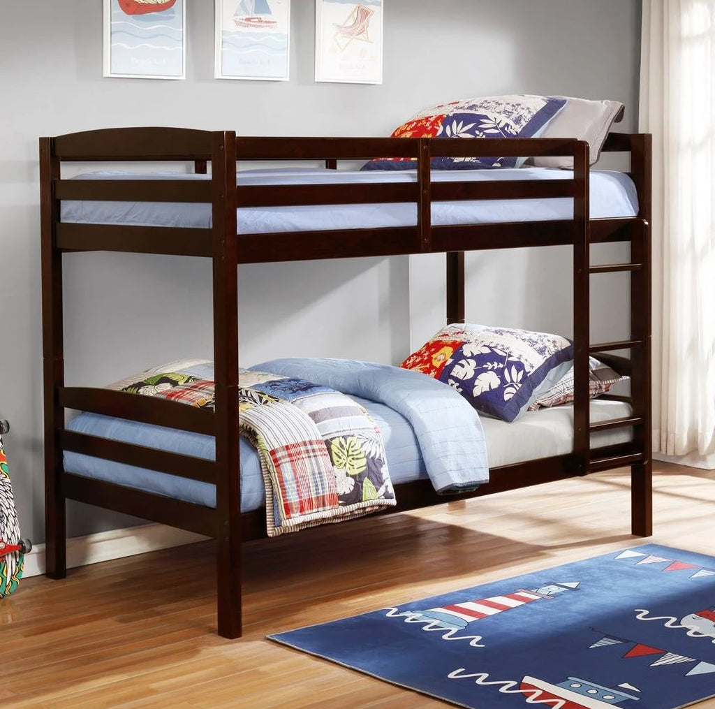 Micah - Espresso Twin/Twin Bunk Bed, Bunk Bed, Lifestyle Furniture - Adams Furniture