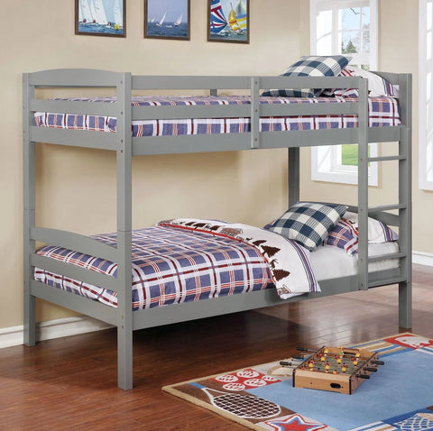Micah - Grey Twin/Twin Bunk Bed, Bunk Bed, Lifestyle Furniture - Adams Furniture