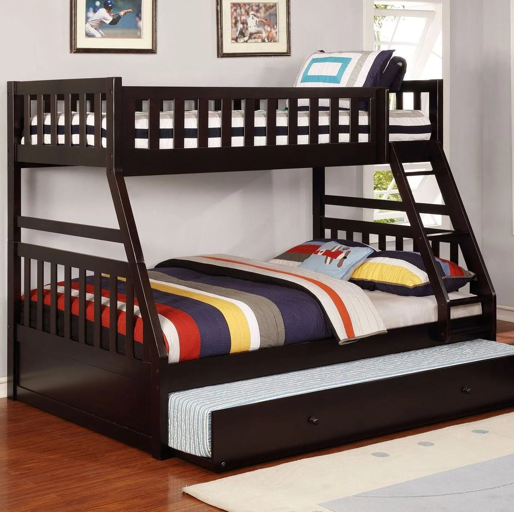 Logan - Espresso Twin/Full Bunk Bed, Bunk Bed, Lifestyle Furniture - Adams Furniture