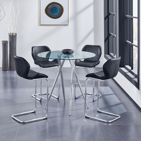 Rio - Black Bar Dining Set, Dining Set, Global Furniture - Adams Furniture