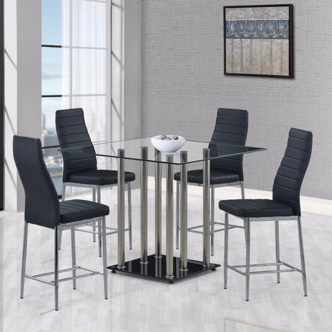 5pc Modern Counter Height Dining Set, KITCHEN & DINING SETS - Adams Furniture