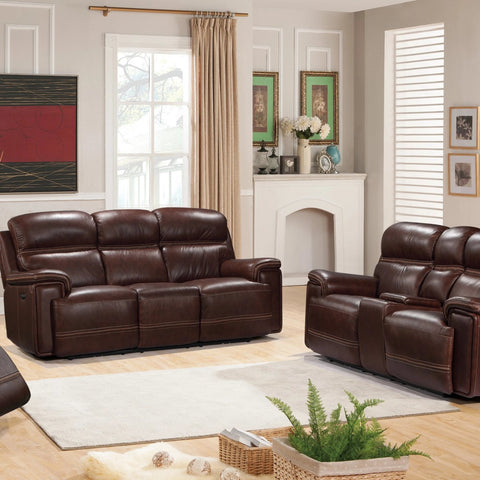 Fresno Power Reclining Living Room Set, Living Room Set, Leather Italia - Adams Furniture