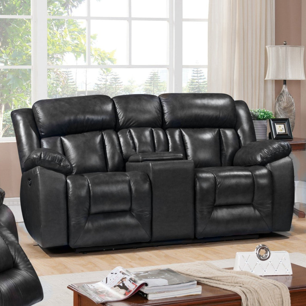 Emmett Power Reclining Loveseat, Loveseat, Leather Italia - Adams Furniture