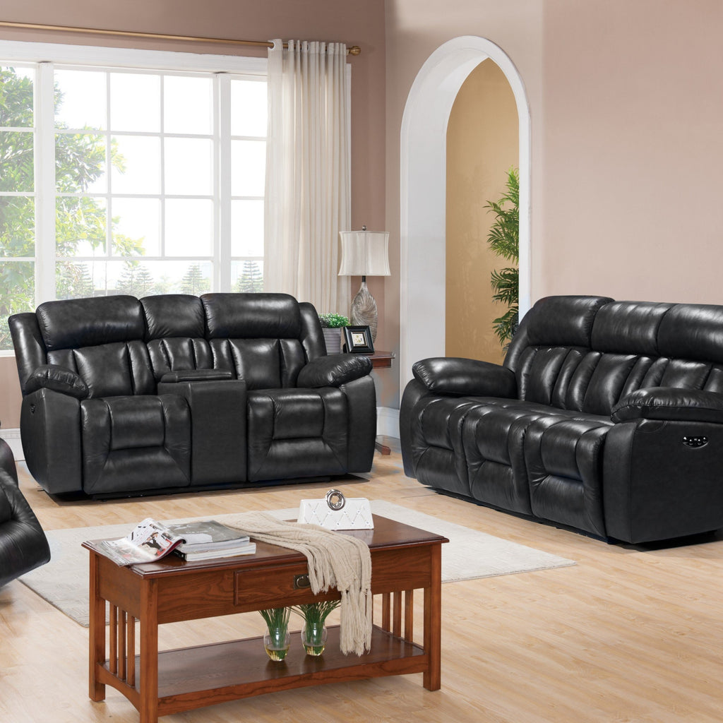 Emmett Power Reclining Living Room Set, Living Room Set, Leather Italia - Adams Furniture