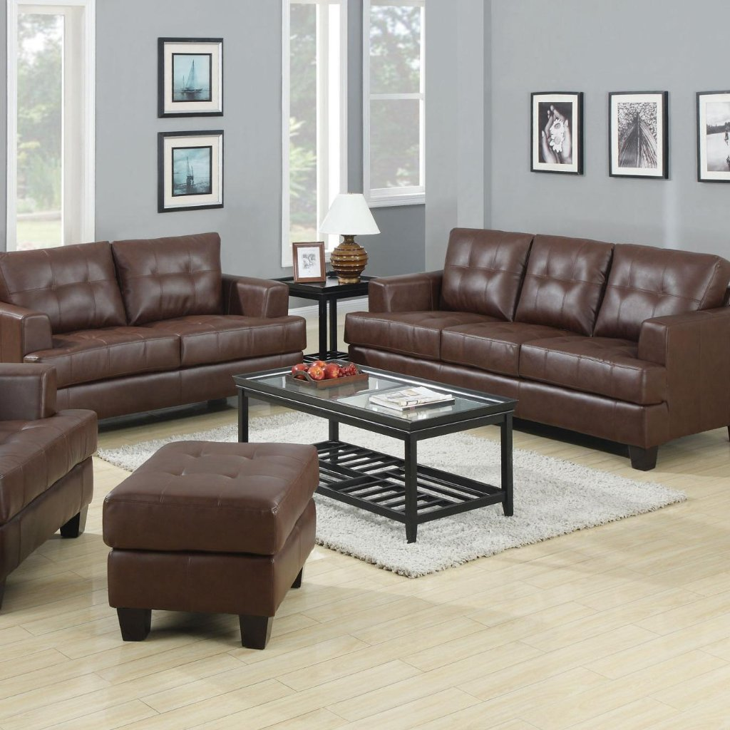 Samuel Brown Living Room Set Adams Furniture