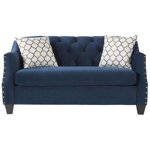 Bing Indigo Loveseat, Loveseat, Hughes Furniture - Adams Furniture