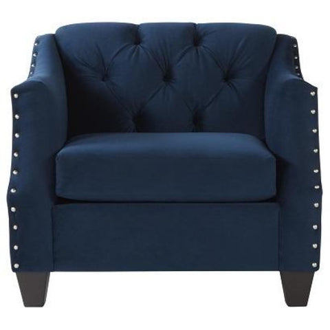 Bing Indigo Chair, Accent Chair, Hughes Furniture - Adams Furniture